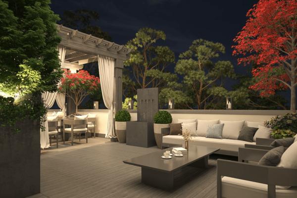 Fink Penthouse rooftop-garden 2
