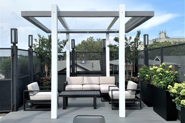 nyc_roofdeck_rooftop_design_landscape_pergola_planters_furniture_landscaping_brooklyn_firetable_highend_build_custom_trexpergola
