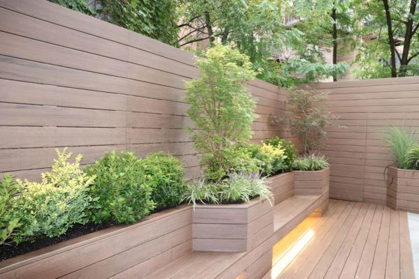 Brooklyn_nyc_courtyard_landscape_trex_composite_planters_green_roof_design_trees_decking_custom_woodwork