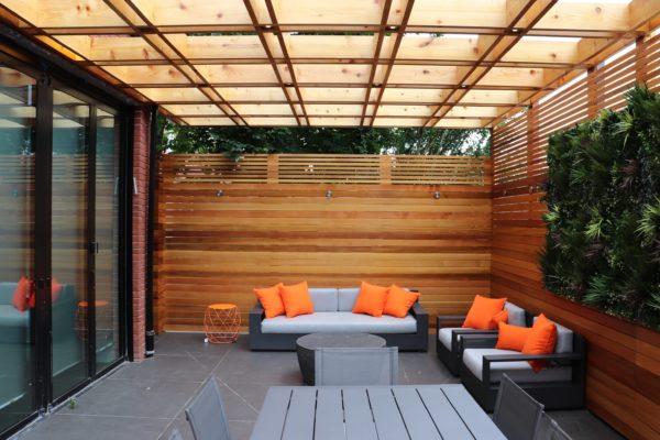 tier_ii_landscape_design_courtyard_pergola_cedar_cvg_custom_woodwork_landscaping_outdoors_green_wall_restoration_hardware_furniture_high_end_landscape