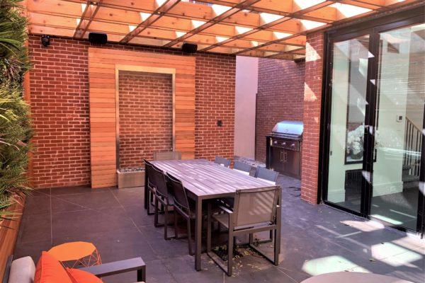 tier_ii_landscape_design_courtyard_pergola_cedar_cvg_custom_woodwork_landscaping_outdoors_green_wall_restoration_hardware_furniture_high_end_waterwall