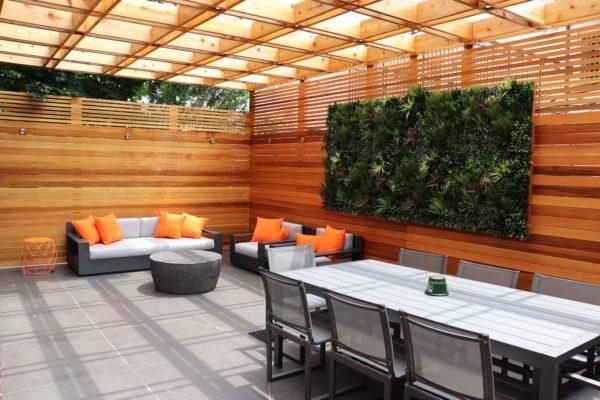 tier_ii_landscape_design_courtyard_pergola_cedar_cvg_custom_woodwork_landscaping_outdoors_green_wall_restoration_hardware_furniture_residential
