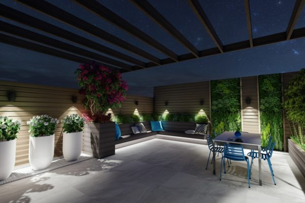 Tier_ii_landscape_design_build_maintain_roofdeck_landscaping_custom_high_end_new_york_city_brooklyn_wood_pergola_furniture_urban_night_landscape