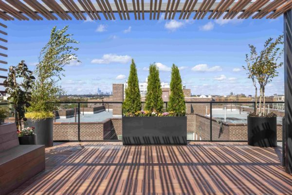 tier_II_landscape_design_commercial_rooftop_brooklyn_IPE_custom_woodwork_kitchen_landscaping_design_build_pergola_u
