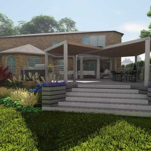 Backyard, entrance