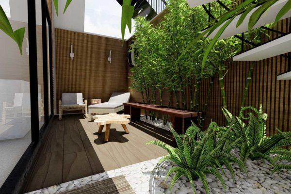 Bamboo plants, custom planters